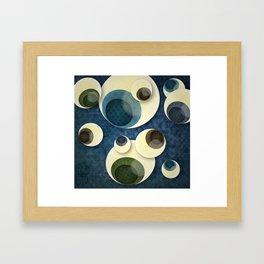 Eyes in the sky Framed Art Print