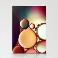 oil Stationery Cards featuring Oil On Water Colourful by ALLY COXON