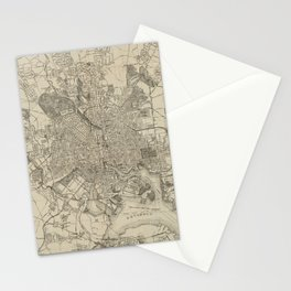 Vintage Map of Baltimore MD (1919) Stationery Cards
