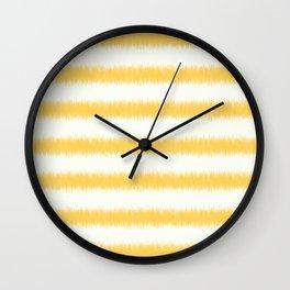 Ikat Stripe Yellow Wall Clock