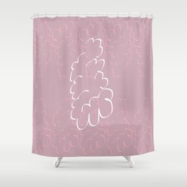 Thinking bubble Shower Curtain