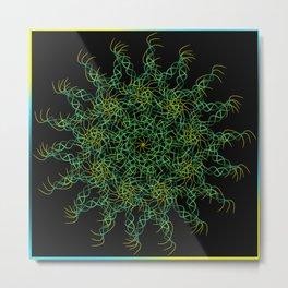 Pattern of grass in a napkin. Metal Print