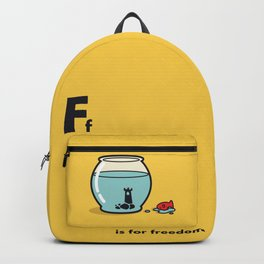 F is for freedom - the irony Backpack