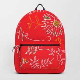 Bight Salmon/Reddish Foral, Oxford Brazil Pattern Backpack