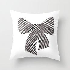 Watercolour Bow Throw Pillow