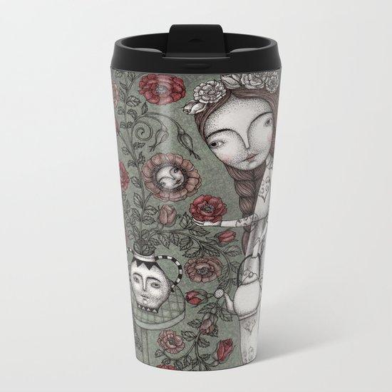 When it Snows Outside (My Secret Garden) Metal Travel Mug