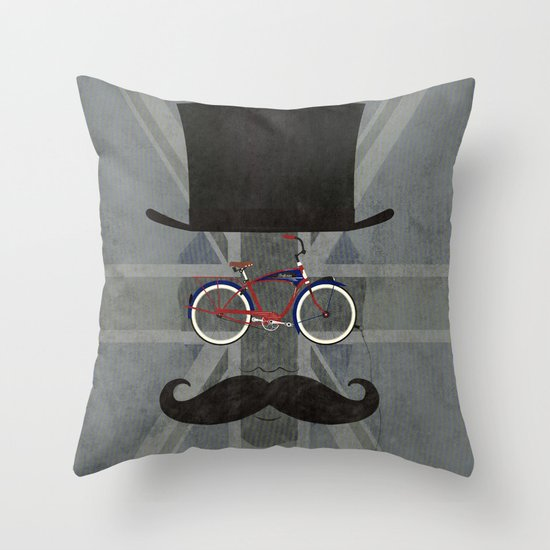 Bicycle Head Throw Pillow