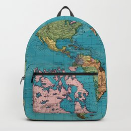 Vintage Map of The World (1897) Backpack