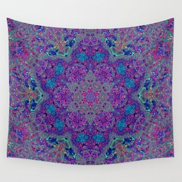 Oil Spill to Flower Wall Tapestry