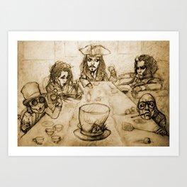 A Mad Tea Party Art Print