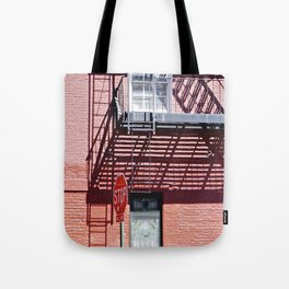 Stop in the shadows NYC Tote Bag