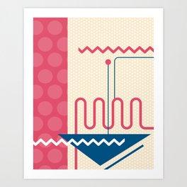 Memphis Polka Dots Throwback Retro 1980s 80s Trendy Hipster Pattern Eighties Art Print