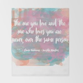 The One You Love Throw Blanket
