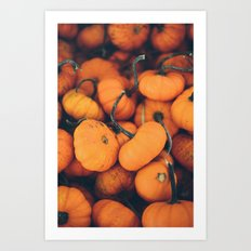 Obligatory Pumpkin Selfie  Art Print
