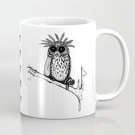 Metal Owl Coffee Mug