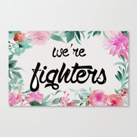 foo fighters Canvas Prints featuring fighters by Pat Taveras