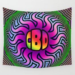 CBD Oil Sunshine Wall Tapestry