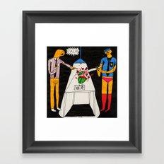 Interrogating melons. 2015.  Framed Art Print