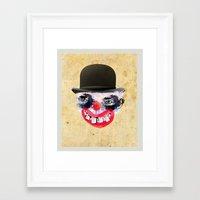 clown Framed Art Prints featuring Clown by Ahmet Hacıoğlu