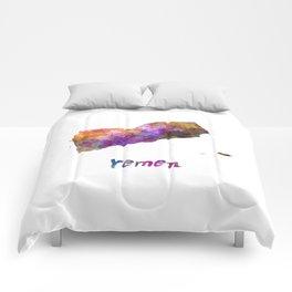 Yemen in watercolor Comforters