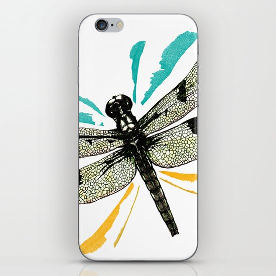 Autumn dragonfly iPhone & iPod Skin