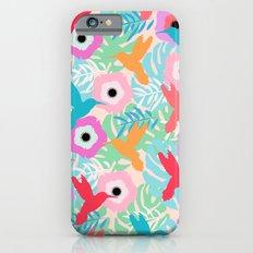 Flowers and hummingbirds Slim Case iPhone 6s
