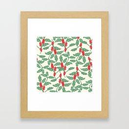 Coffee Plant Pattern Framed Art Print