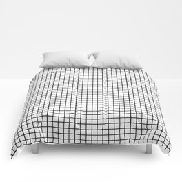 black & white grid Comforters