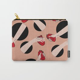 I give you my heart PINK #pattern Carry-All Pouch