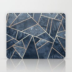 Soft Dark Blue Stone Laptop & iPad Skin