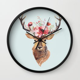 Bohemian Deer 2 Wall Clock