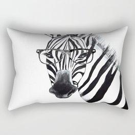 Zebra with glasses, black and white Rectangular Pillow