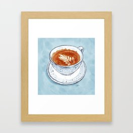 Flat White Framed Art Print