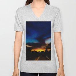 Long Lonesome Highway Unisex V-Neck