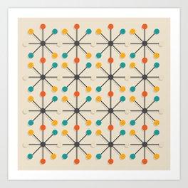 Midcentury Pattern 02 Art Print