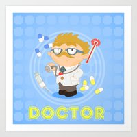doctor Art Prints featuring Doctor by Alapapaju