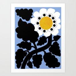 Black and white daisy Art Print