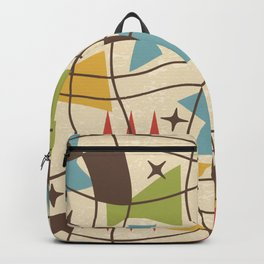 Mid Century Modern Abstract Pattern 571 Backpack