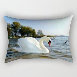 Mute Swan Art Rectangular Pillow
