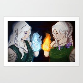 Queen Mab and Queen Titania Art Print