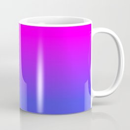 Neon Blue and Hot Pink Ombré Shade Color Fade Coffee Mug
