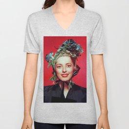 Eleanor Parker, Vintage Actress Unisex V-Neck