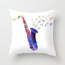 Saxophone My Kind of Musical Instrument Throw Pillow
