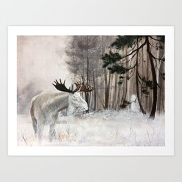 Forest Spirit - Moose Kunstdrucke
