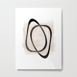 Interlocking Two AA - Minimalist Line Abstract Metal Print