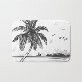 Beach graphic sketch art Bath Mat