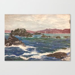 motion of the sea Canvas Print
