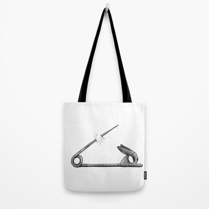 rabbit pin Tote Bag