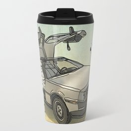 Lost, searching for the DeathStarr _ 2 Stormtrooopers in a DeLorean  Travel Mug