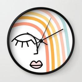 Rainbow State of Mind - pastel Wall Clock